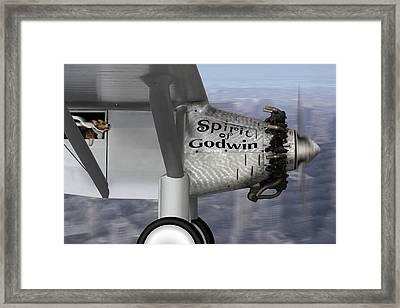 Postcards From Otis - Corgi Crossing Framed Print by Mike McGlothlen