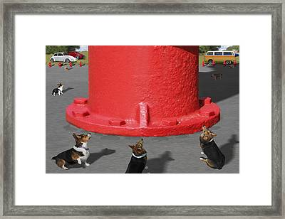Postcards From Otis - The Hydrant Framed Print by Mike McGlothlen