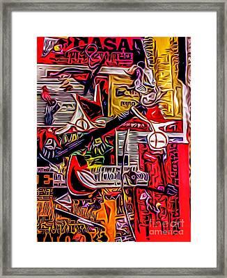 Poster 5 Framed Print by Robert Daniels