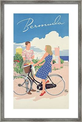 Poster Advertising Bermuda Framed Print by Adolph Treidler