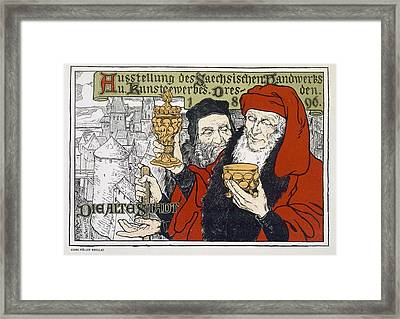 Poster Advertising The Arts And Crafts Framed Print by Georg Muller-Breslau