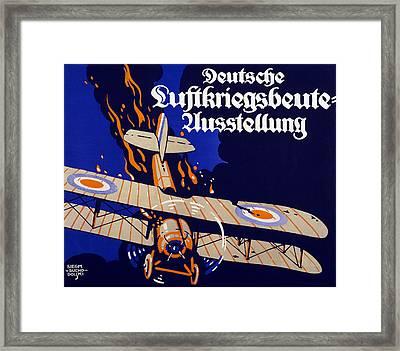 Poster Advertising The German Air War Framed Print by Siegmund von Suchodolski