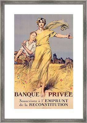 Poster Advertising The National Loan Framed Print by Rene Lelong