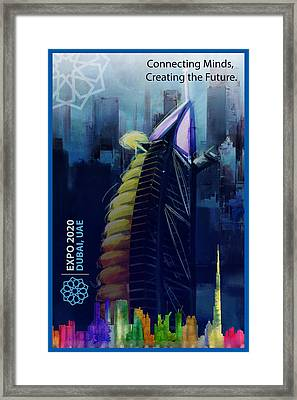 Poster Dubai Expo - 10 Framed Print by Corporate Art Task Force