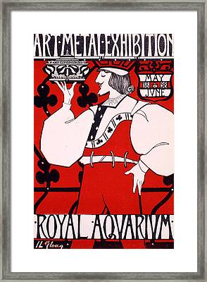Poster For Art Metal Exhibition At The Royal Aquarium Framed Print by Isobel Lilian Gloag