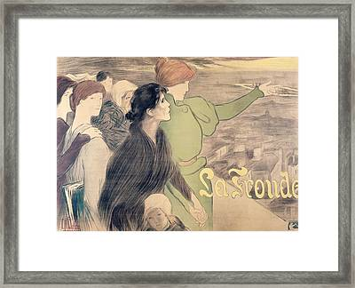 Poster For La Fronde Framed Print by Clementine Helene Dufau