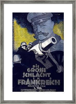Poster For The Film The Great Battle Framed Print by Hans Rudi Erdt