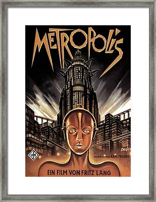Poster From The Film Metropolis 1927 Framed Print by Anonymous