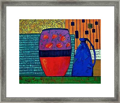 Pot Aux Tulipes Rouges Framed Print by Mirko Gallery