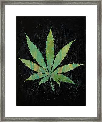 Pot Leaf Framed Print by Michael Creese