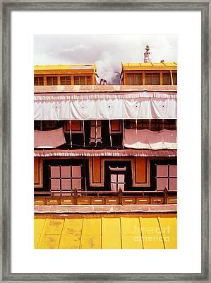 Potala Palace Rooftop - Lhasa Tibet Framed Print by Anna Lisa Yoder