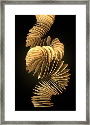 Potato Chip Stack Falling Framed Print by Allan Swart