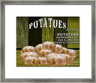 Potato Farm Framed Print by Marvin Blaine