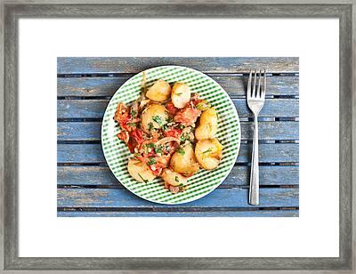Potatos And Chipolatas Framed Print by Tom Gowanlock