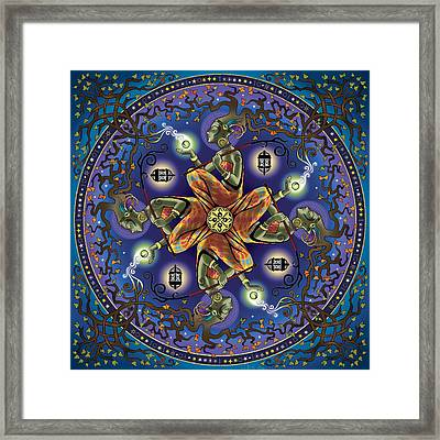 Potential Mandala Framed Print by Cristina McAllister