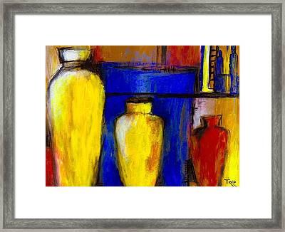 Poteries Au Marche De Javea Framed Print by Mirko Gallery