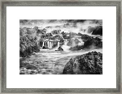 Potomac Mist Framed Print by Mike Lang