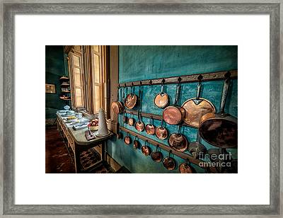 Pots And Pans Framed Print by Adrian Evans