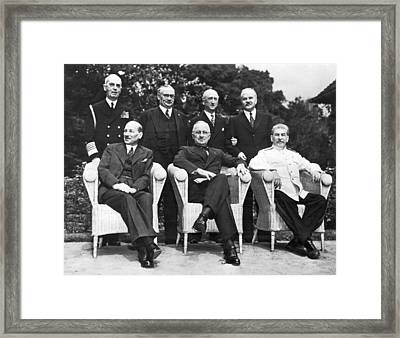 Potsdam Big Three Conference Framed Print by Underwood Archives