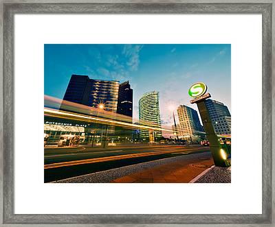 Potsdamer Platz - Berlin By Night Framed Print by Alexander Voss