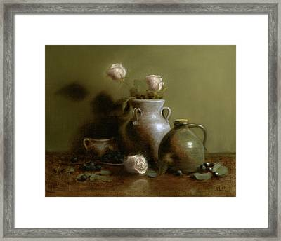 Pottery Collection. Framed Print by Christy Olsen