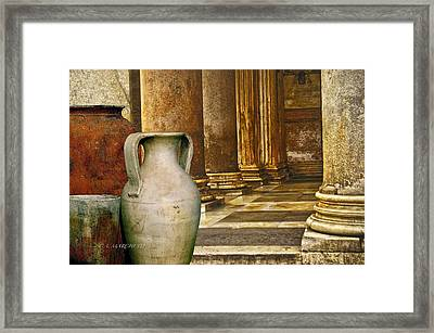Pottery From Another Time  Framed Print by Carolyn Marchetti