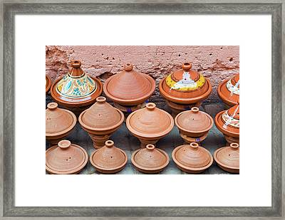 Pottery Pans (tajiniere Framed Print by Nico Tondini