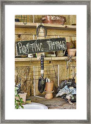 Potting Thyme Framed Print by Heather Applegate