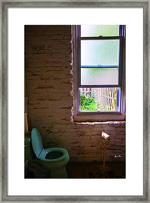 Potty With A View Framed Print by Madeline Ellis