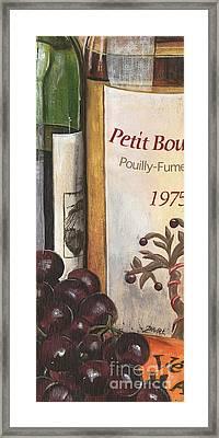 Pouilly Fume 1975 Framed Print by Debbie DeWitt