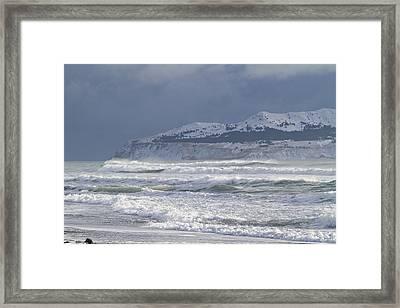Pounding Waves Framed Print by Tim Grams
