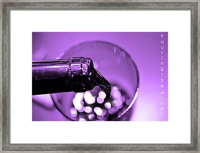 Pour Wine Framed Print by Toppart Sweden
