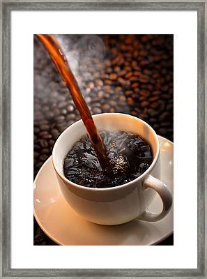 Pouring Coffee Framed Print by Johan Swanepoel