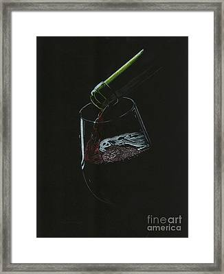 Pouring Red Framed Print by Lana Bostrom