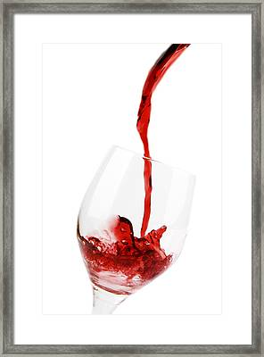 Pouring Red Wine Framed Print by Chevy Fleet