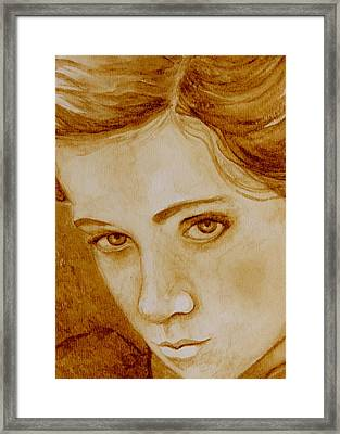 Pout Framed Print by Julee Nicklaus