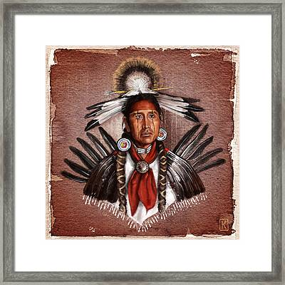 Pow Wow Dancer Framed Print by Andre Koekemoer