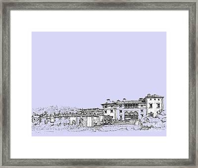 Powder Blue Vizcaya Museum  Framed Print by Building  Art
