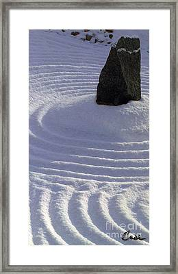 Powder In Zen One Framed Print by Feile Case