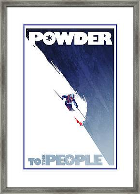 Powder To The People Framed Print by Sassan Filsoof