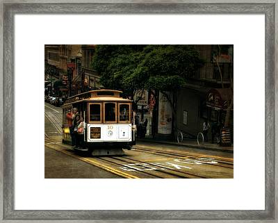 Powell And Market Framed Print by Michelle Calkins