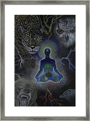 Power Animals Framed Print by Ethan  Foxx
