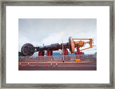 Power Buoy Wave Energy Device Framed Print by Ashley Cooper