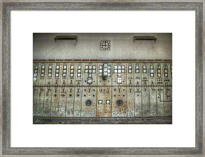Power Clock Framed Print by Nathan Wright