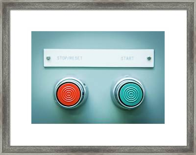Power Control Switch Framed Print by Gustoimages