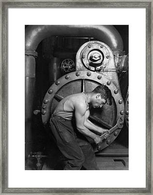 Power House Mechanic 1920 Framed Print by Mountain Dreams
