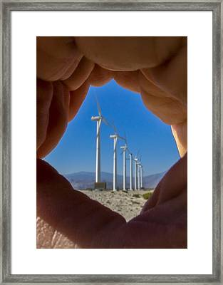 Power In The Hand Framed Print by Scott Campbell