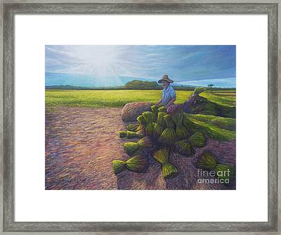 Power Of Determination And Faith Framed Print by Isara Daengruan