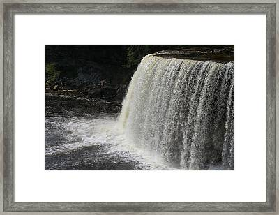 Power Of Tahquamenon Framed Print by Dan Sproul