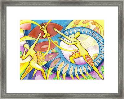 Power Of The Dance - Family Framed Print by Mark Stankiewicz